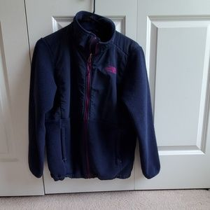 Children's XL purple North face sweatshirt jacket